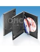 Drei-DVD-Box schwarz, Klapptray