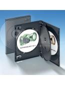 Vier-DVD-Box schwarz