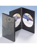 Zwei DVD Box schwarz